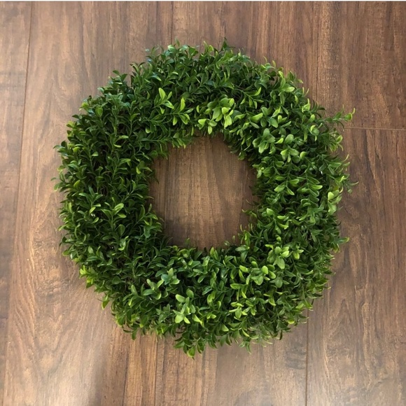 "NEW. Hearth & Hand. 15"" Boxwood. Wreath."